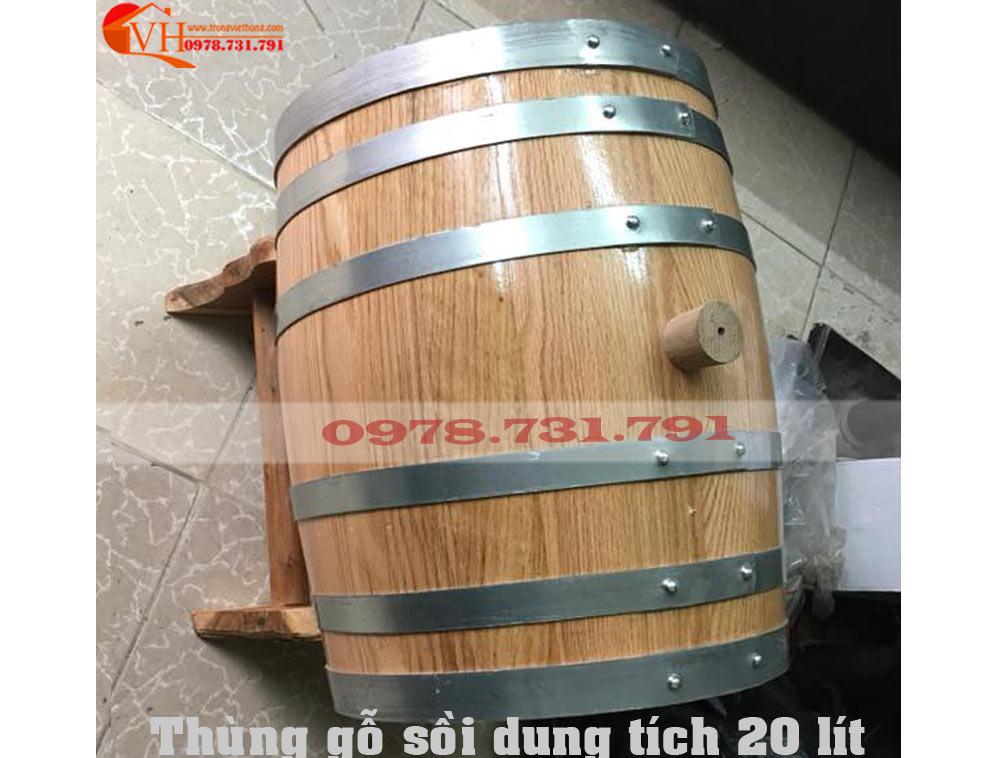 giá bán thùng gỗ sồi đựng rượu