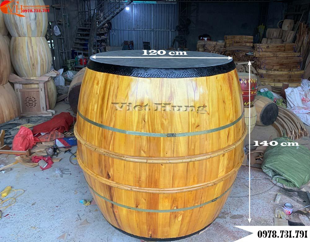 trống đình thân lõi gỗ mít