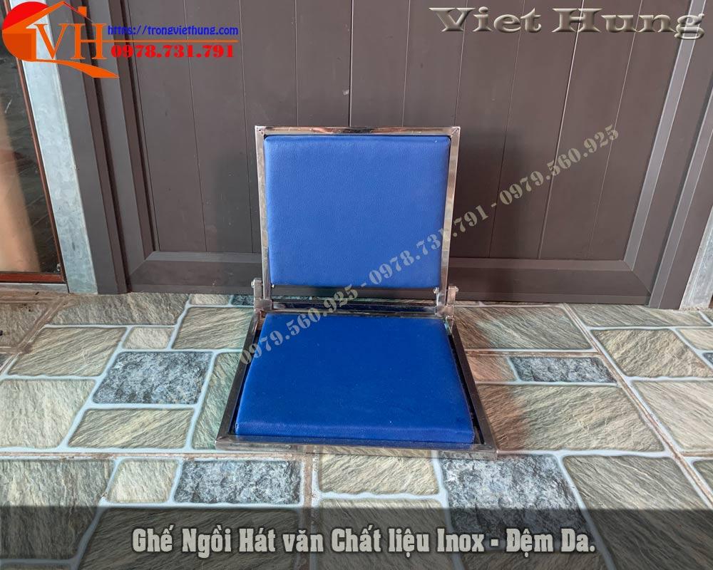 ghế ngồi đánh trống dàn màu xanh
